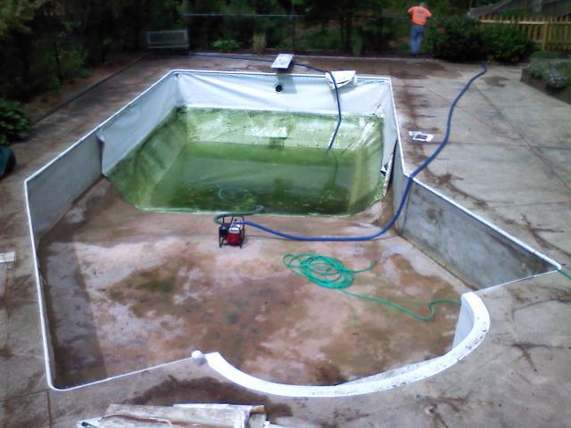 Pool Liner Replacement Before